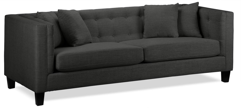 Mobilier de salle de séjour - Astin Sofa - gris foncé