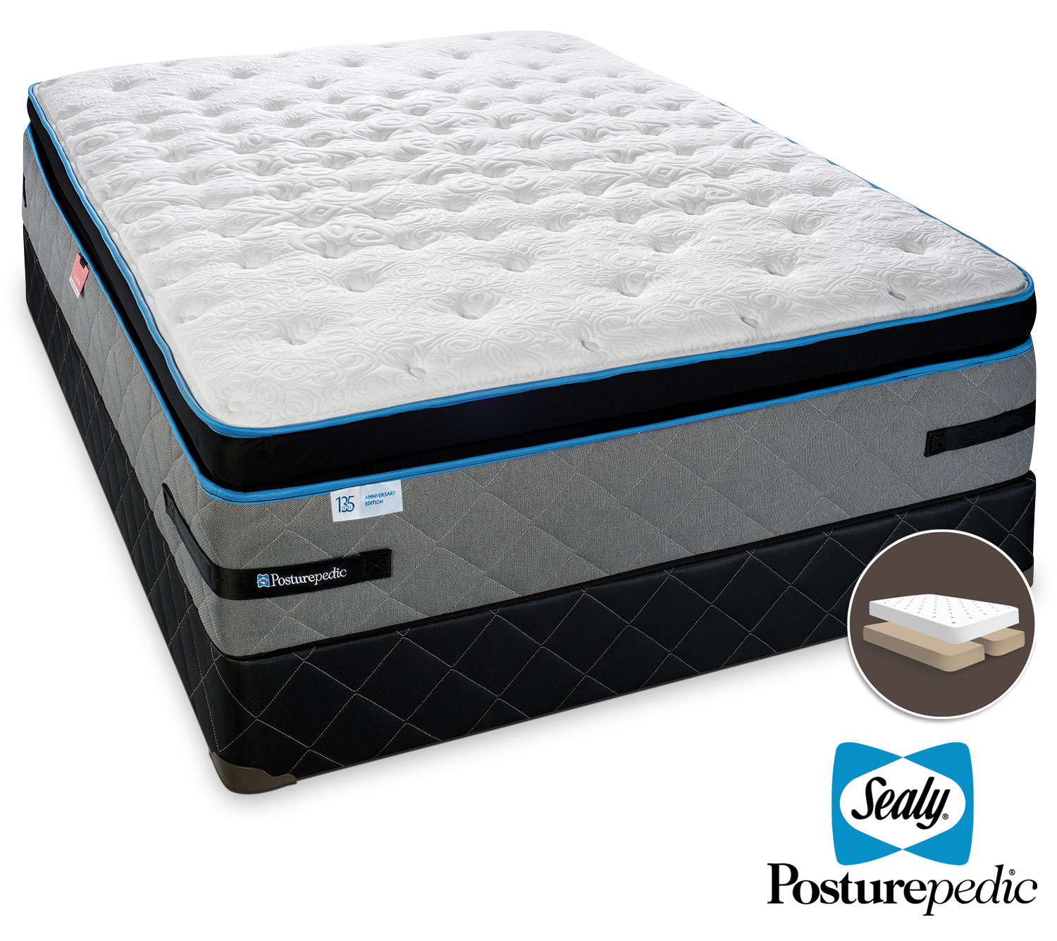 Mattresses and Bedding - Sealy Posturepedic J'adore Cushion Firm King Mattress/Split Boxspring Set