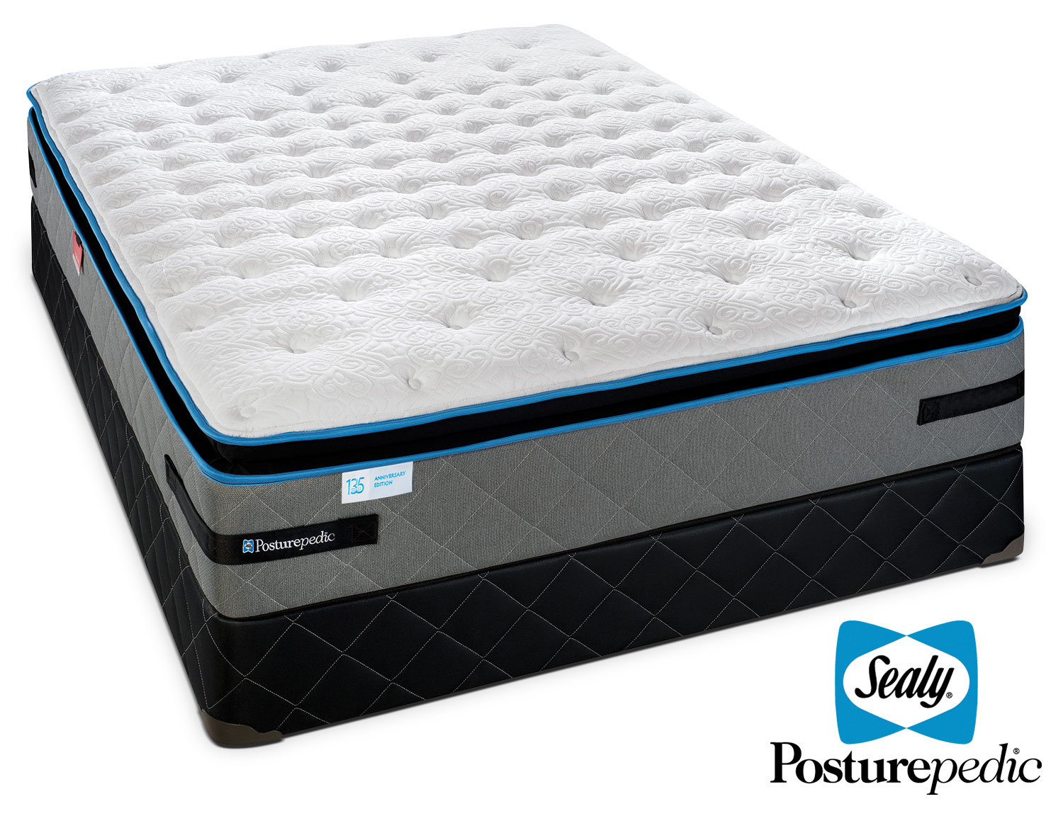 Mattresses and Bedding - Sealy Posturepedic Beaucoup Firm Queen Mattress/Boxspring Set