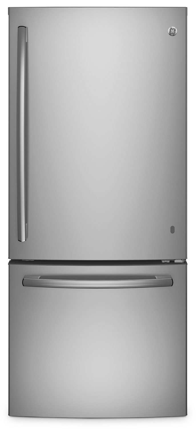 GE 20.9 Cu. Ft. Bottom-Freezer Refrigerator – GDE21DSKSS