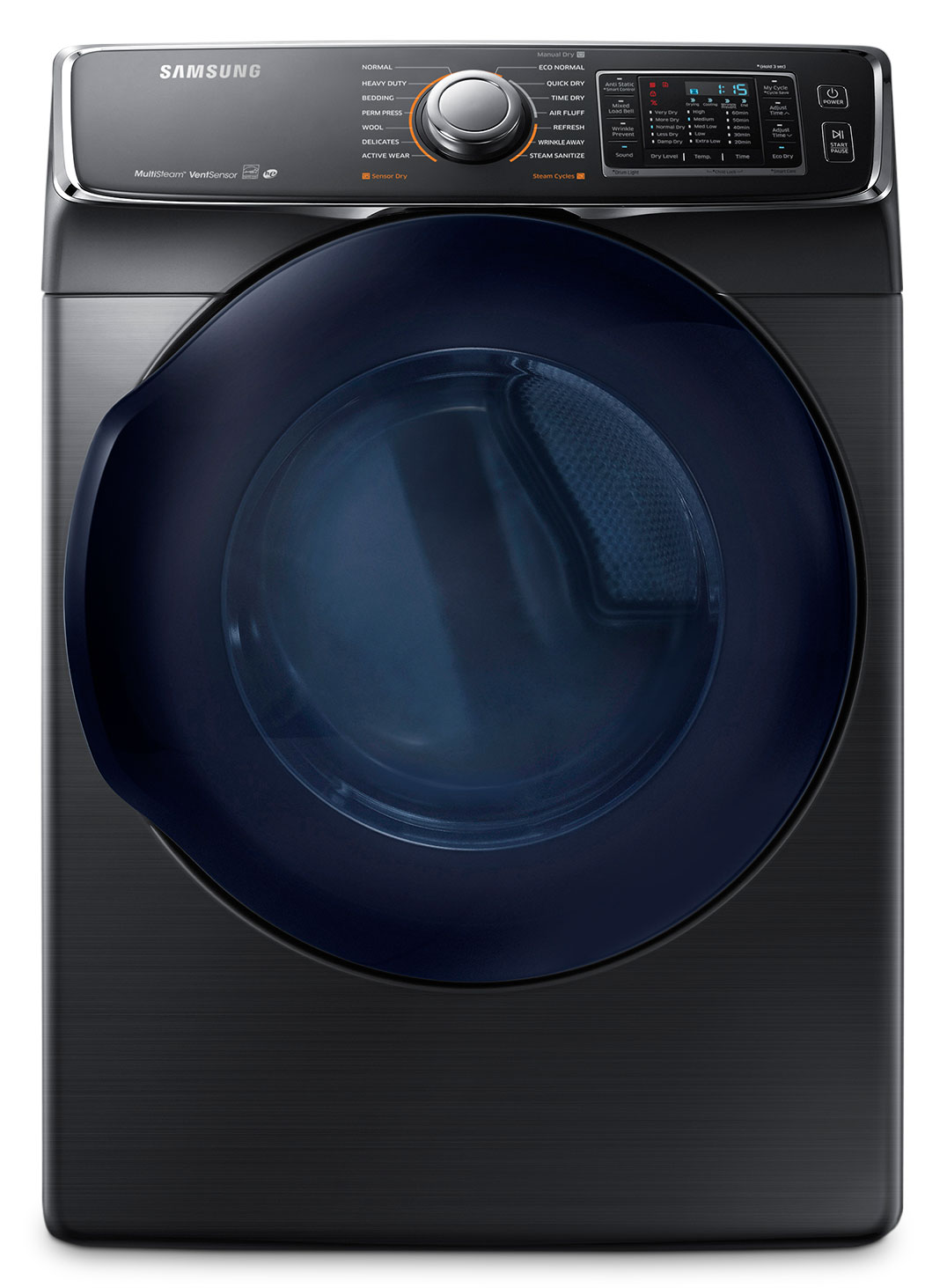 Washers and Dryers - Samsung 7.5 Cu. Ft. Electric Dryer – Black Stainless Steel DV45K6500EV/AC