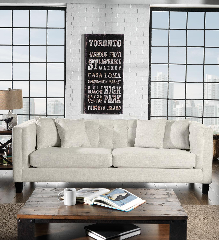 Leon S Furniture Sectional Sofas: Astin Sofa - Wheat