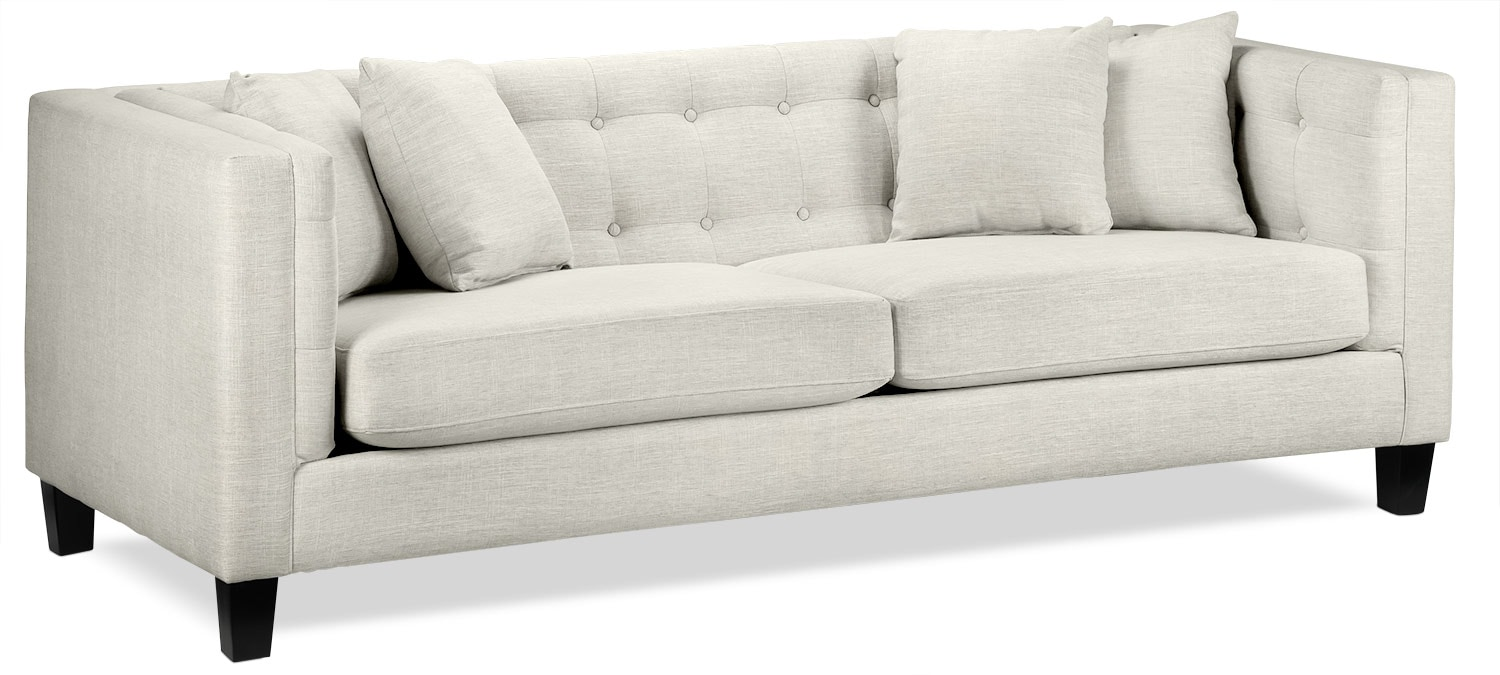 Living Room Furniture - Astin Sofa - Wheat