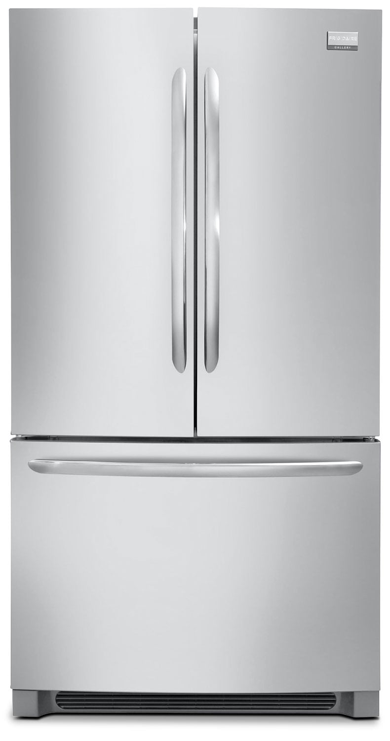 Frigidaire Gallery 23 Cu. Ft. French Door Counter-Depth Refrigerator – Stainless Steel