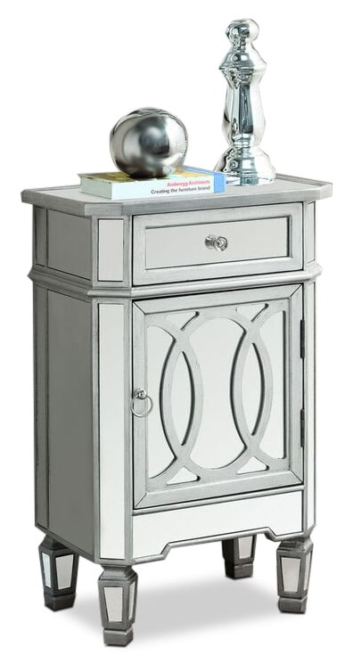 Accent and Occasional Furniture - Online Only - Cleo Accent Table - Mirrored Glass