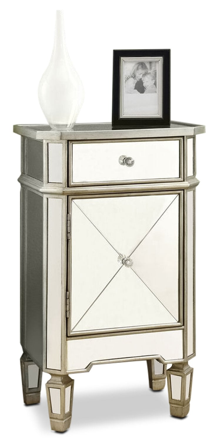 Online Only - Cherie Accent Table - Mirrored Glass