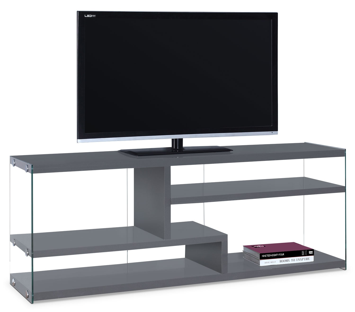 Entertainment Furniture - Online Only - Zara TV Stand - Grey