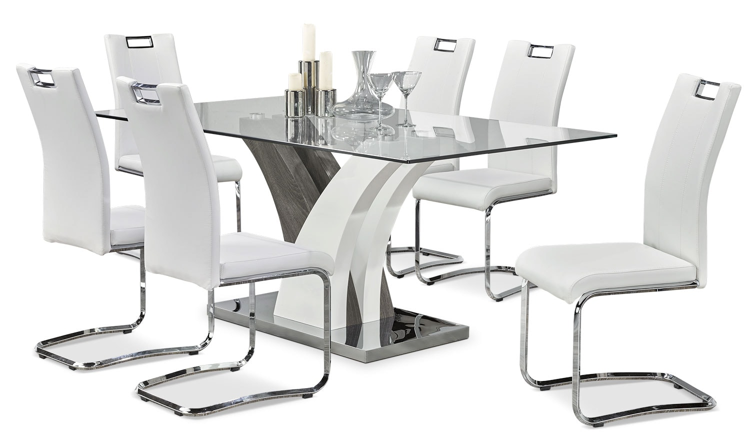 Dining Room Furniture - Tuxedo 7-Piece Dining Package
