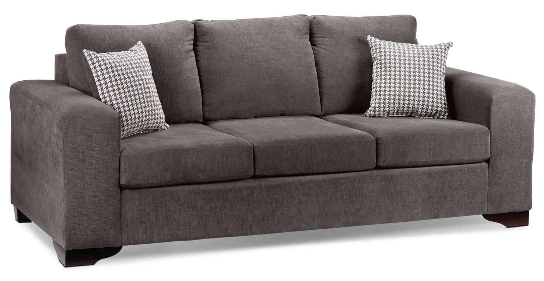 Living Room Furniture - Fava Sofa - Grey