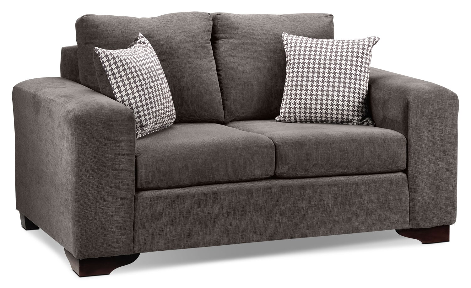Living Room Furniture - Fava Loveseat - Grey
