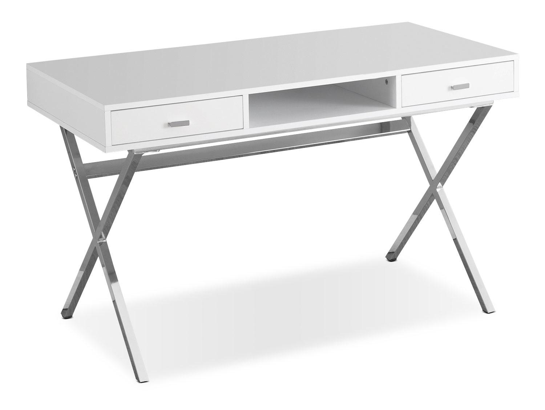 Online Only - Marcel Computer Desk - White