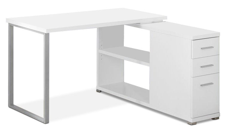 Online Only - Rylan Computer Desk - White