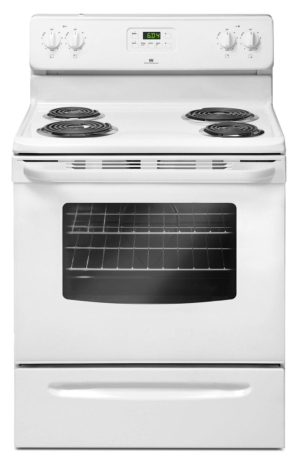 Cooking Products - White-Westinghouse 4.8 Cu. Ft. Freestanding Electric Range – CWEF3007TW