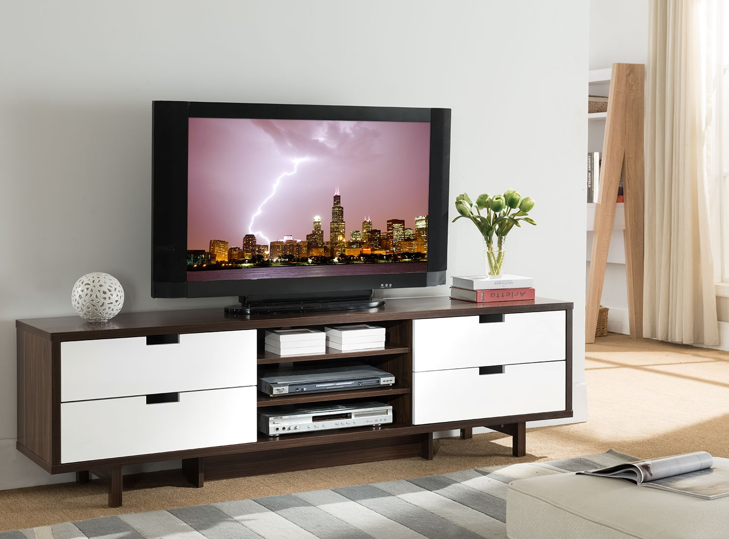 Lovran 71 tv stand the brick for Chez brick meuble