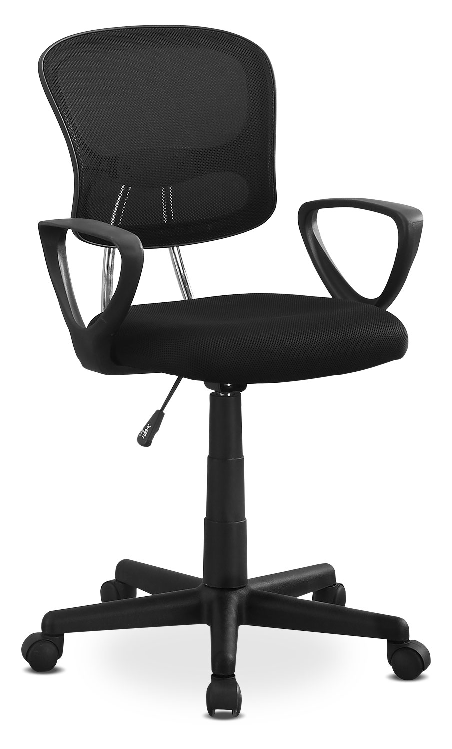 Home Office Furniture - Online Only - Polito Office Chair - Black