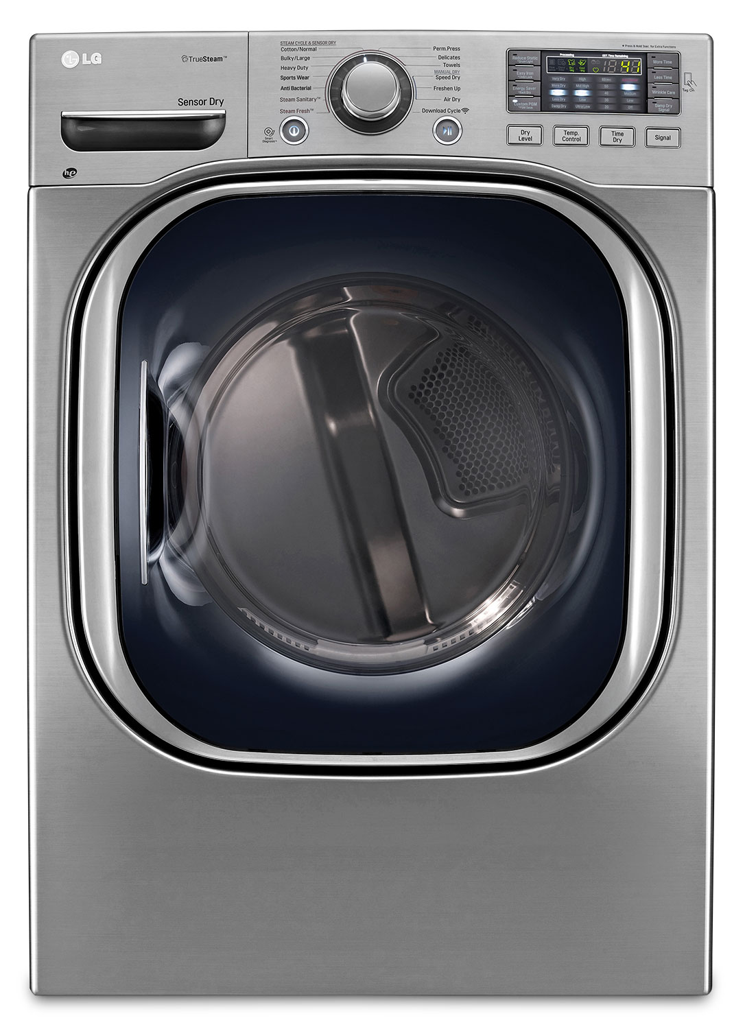 Washers and Dryers - LG 7.4 Cu. Ft. Electric SteamDryer™ - Graphite Steel