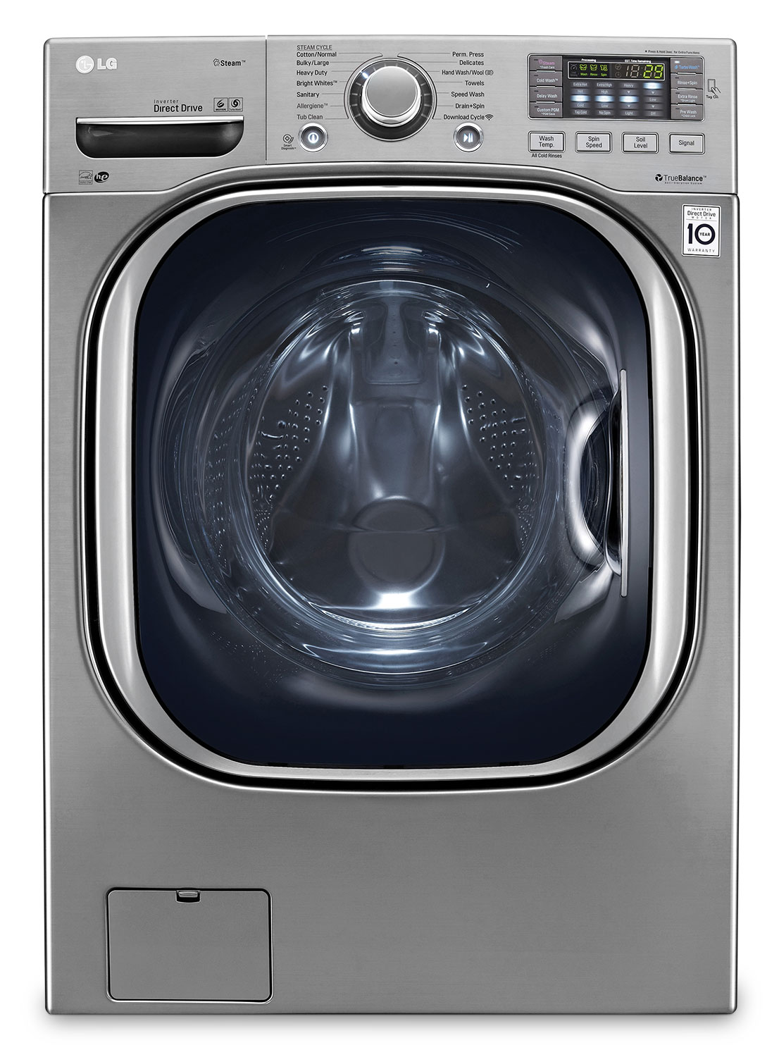 LG 5.2 Cu. Ft. Front-Load Washer – Graphite Steel