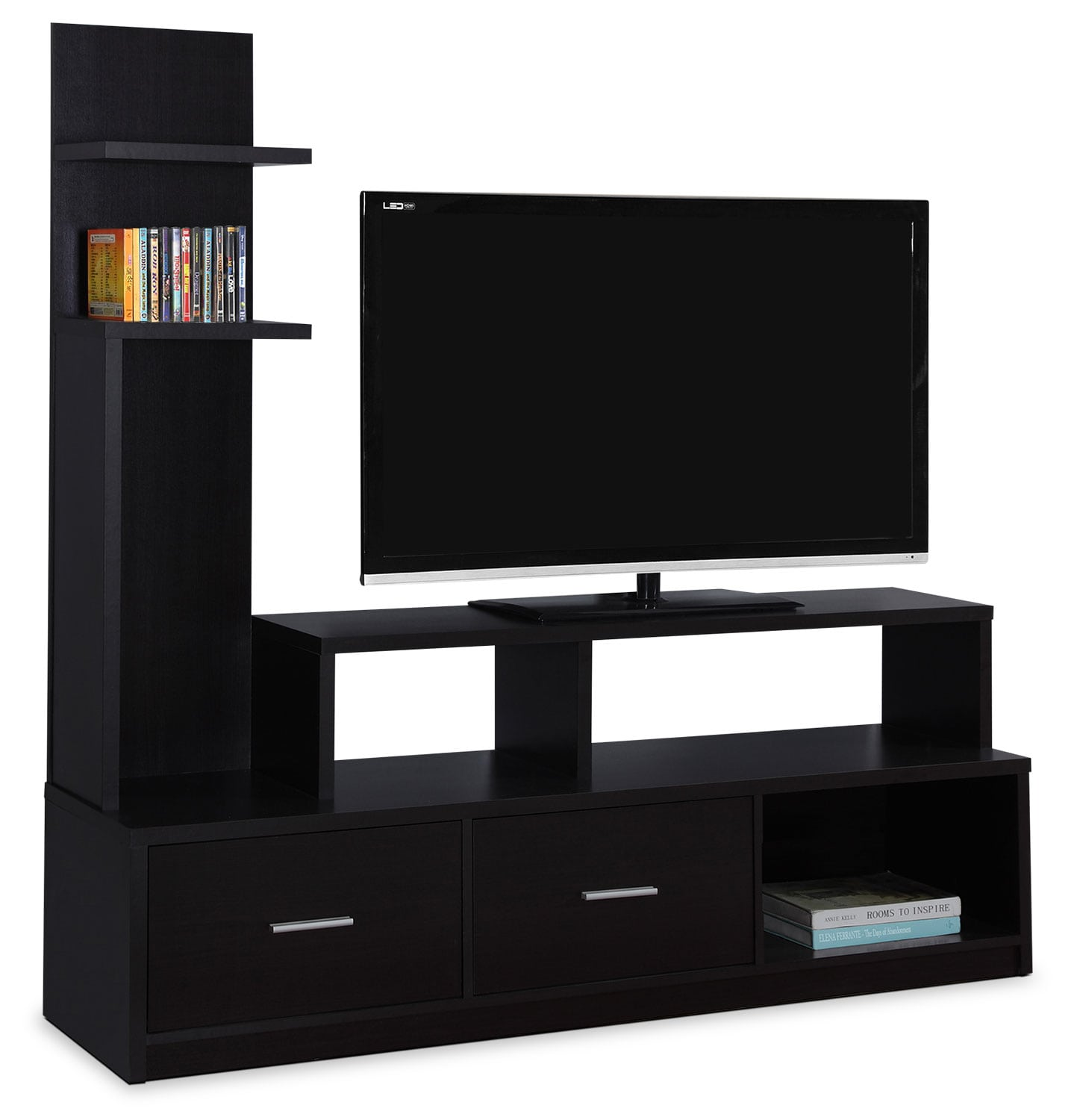 online only  ari tv stand  cappuccino  leon's - hover to zoom