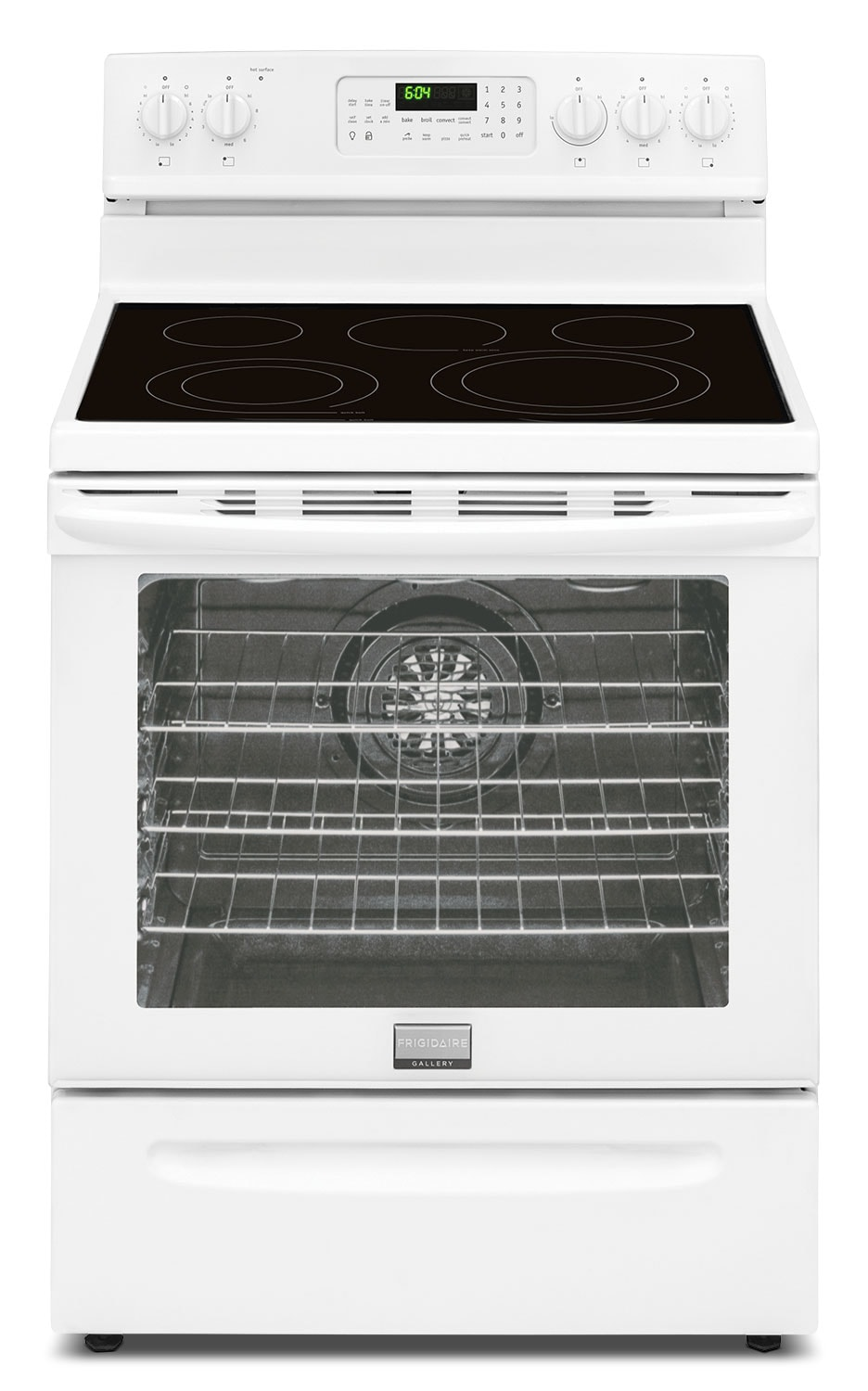 Cooking Products - Frigidaire Gallery White Freestanding Electric Convection Range (5.8 Cu. Ft.) - CGEF3058RW