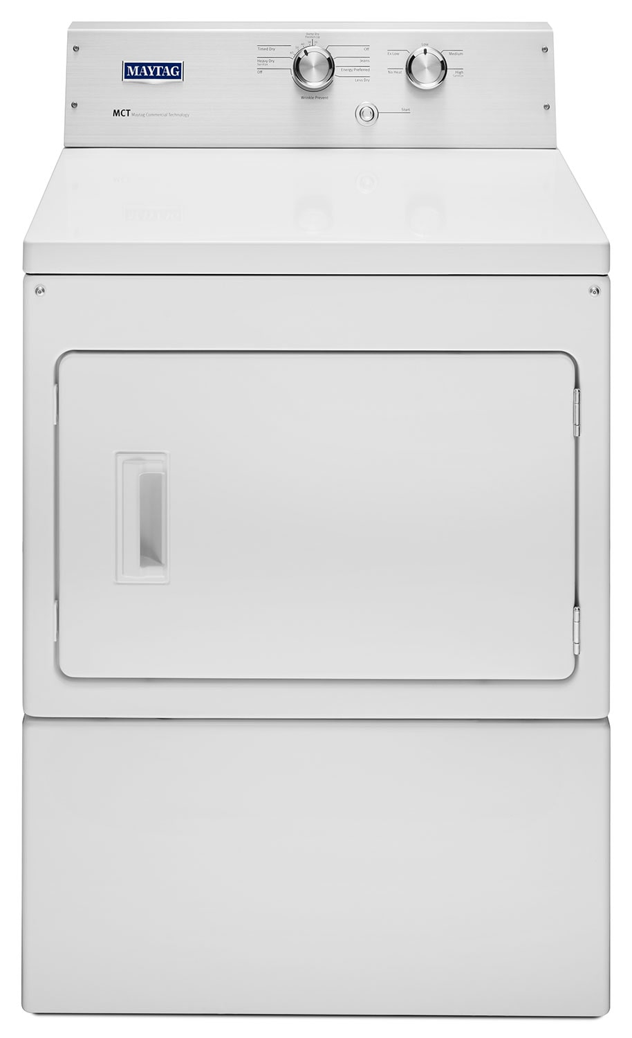 Washers and Dryers - Maytag White Electric Dryer (7.4 Cu. Ft.) - YMEDP475EW