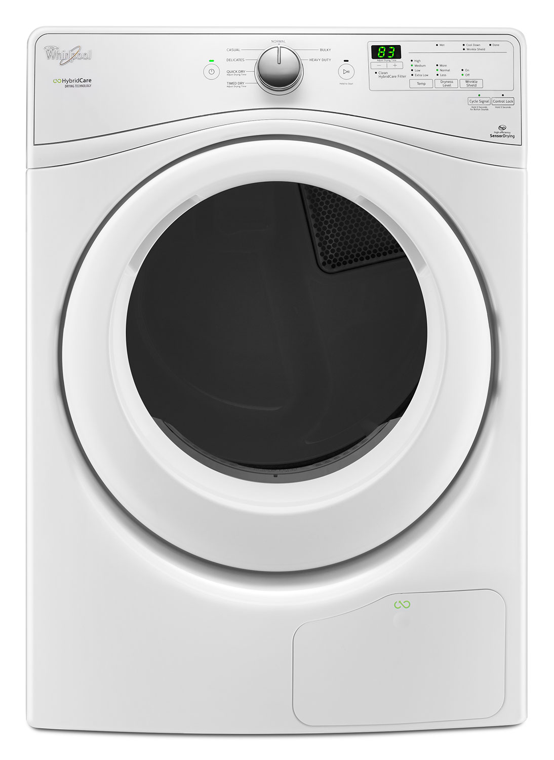 Washers and Dryers - Whirlpool White Electric Heat Pump Dryer (7.4 Cu. Ft.) - YWED7990FW