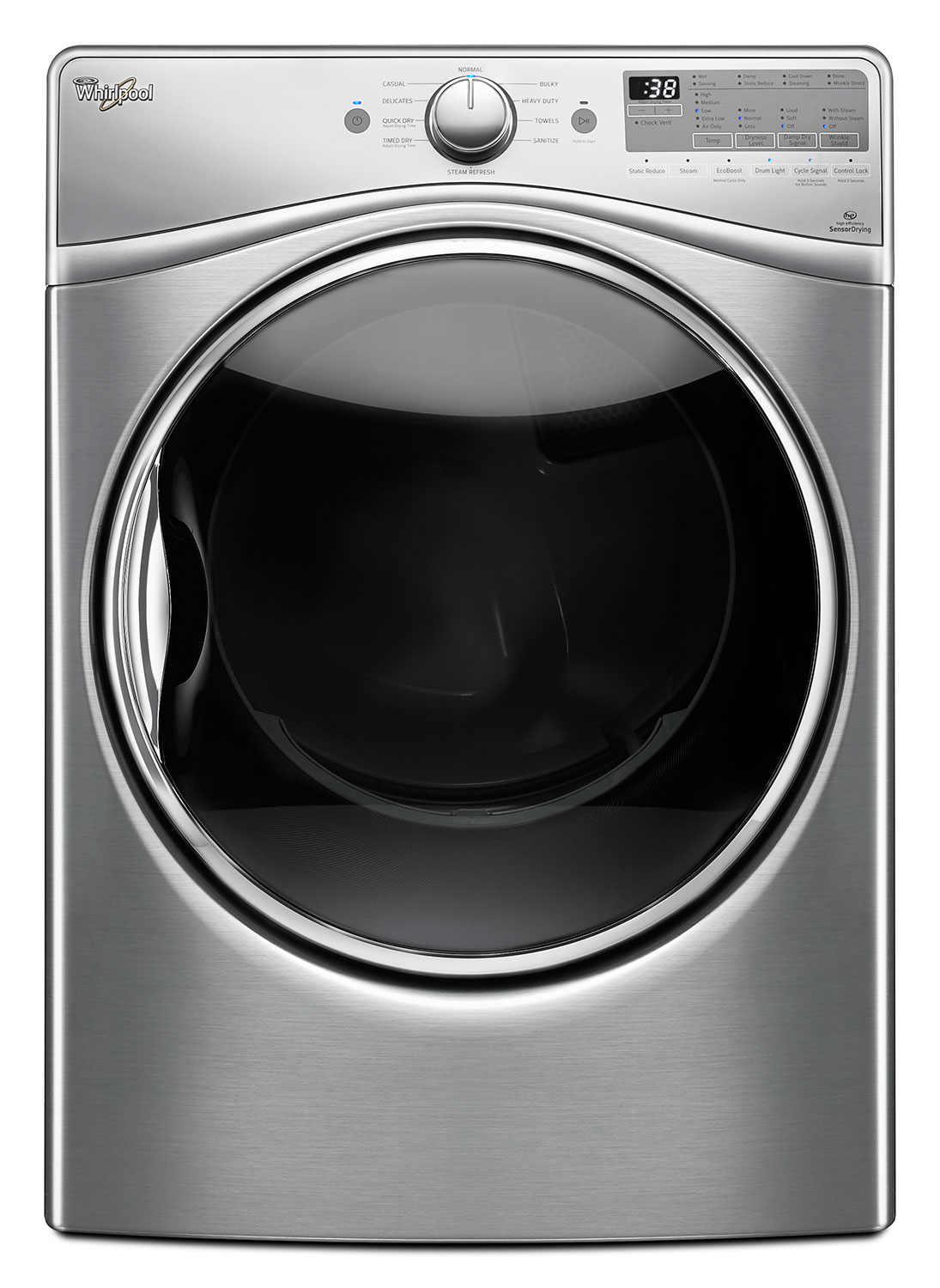 Washers and Dryers - Whirlpool Diamond Steel Dryer (8.5 Cu. Ft.) - YWED92HEFU