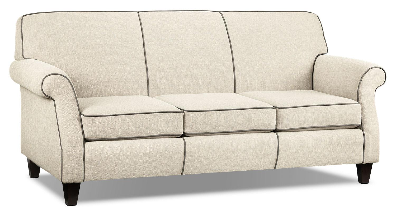 Living Room Furniture - Aristo Sofa - Ivory