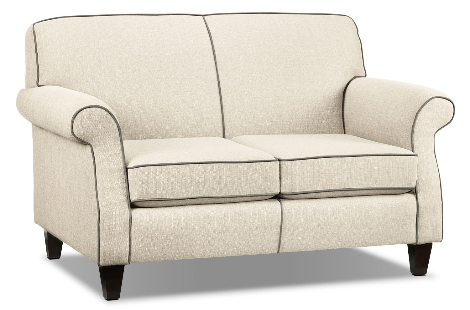 Living Room Furniture - Aristo Loveseat - Ivory