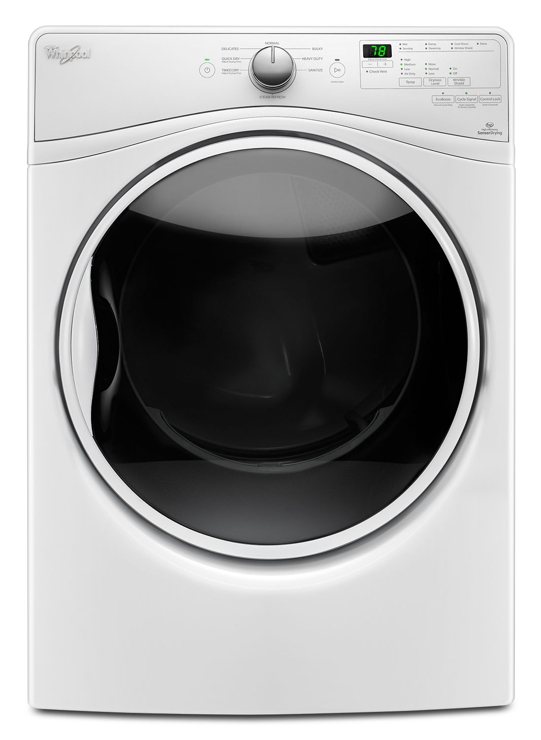 Whirlpool White Electric Dryer (7.4 Cu. Ft.) - YWED85HEFW