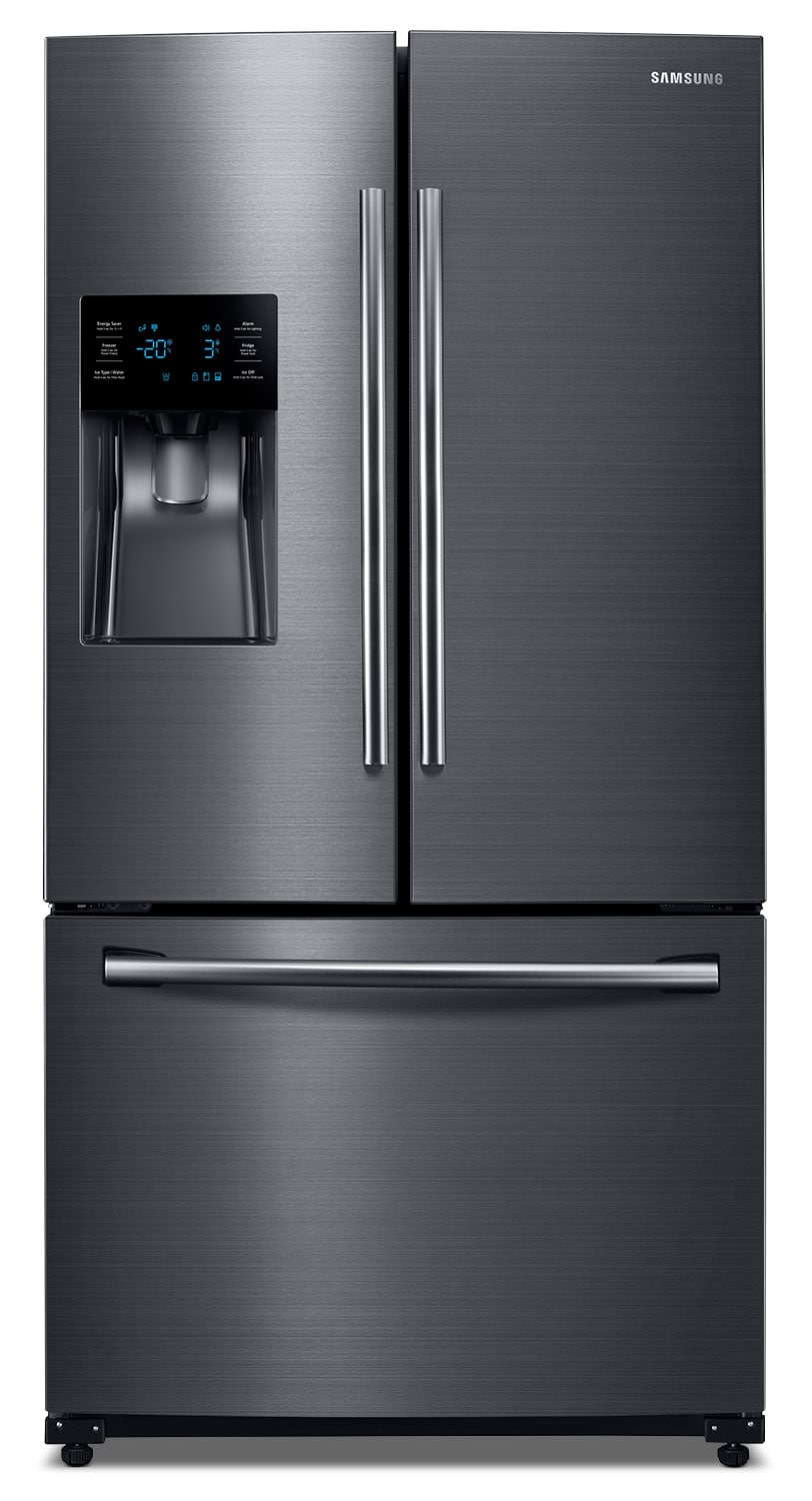 Refrigerators and Freezers - Samsung 26 Cu. Ft. French Door Refrigerator – Black Stainless Steel RF263BEAESG/AA