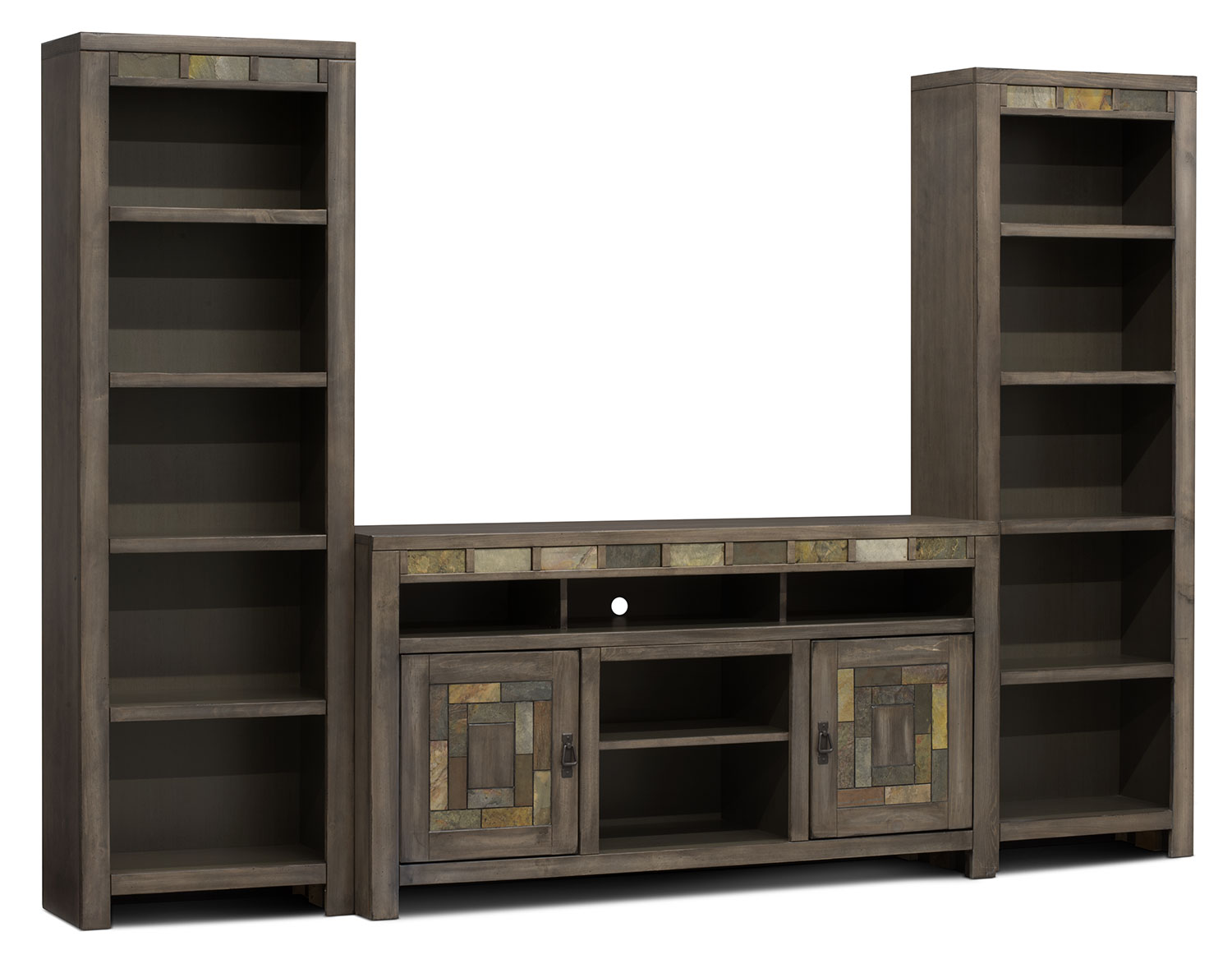 Entertainment Furniture - Jakarta Solid Maple 3-Piece Entertainment Centre