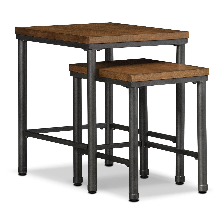 Shipyard 2-Piece Nesting Tables - Nutmeg | American Signature Furniture