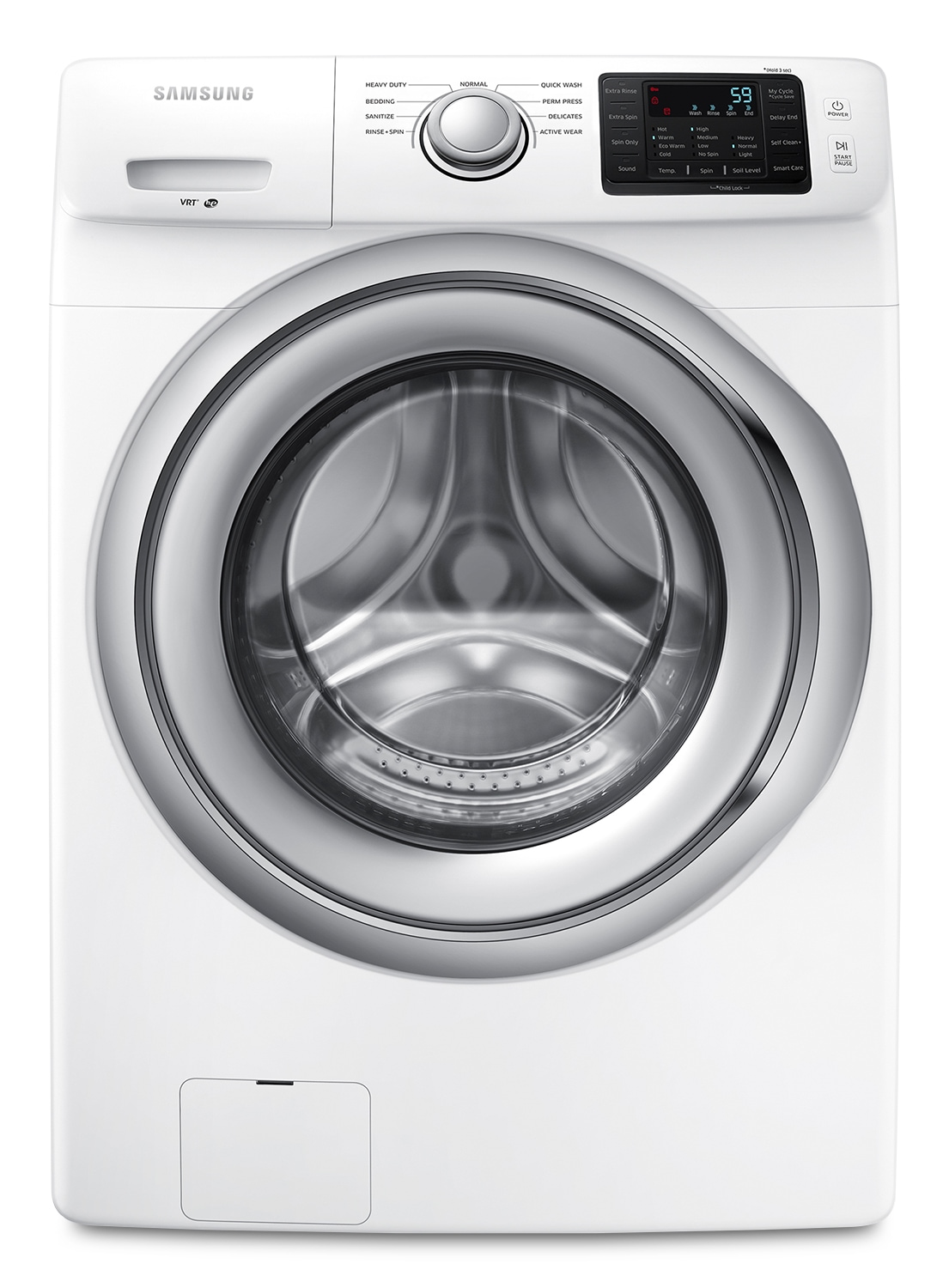 Washers and Dryers - Samsung White Front-Load Washer (4.8 Cu. Ft. IEC) - WF42H5100AW