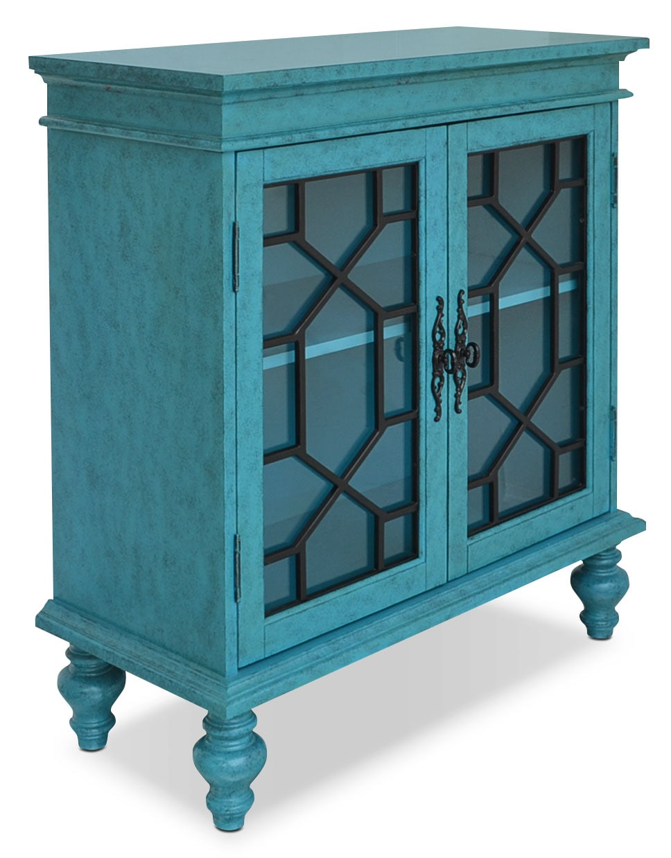 blue accent cabinet rigolet small accent cabinet blue the brick 12467