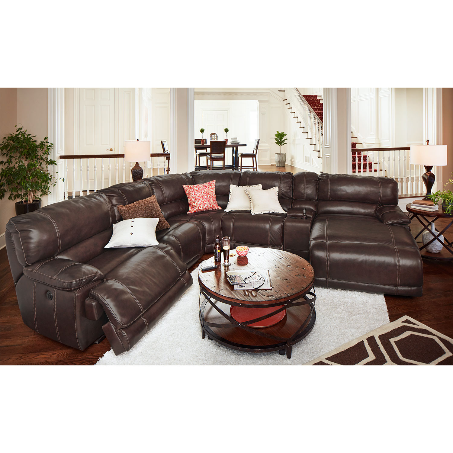 St. Malo 6-Piece Power Reclining Sectional with Right ...