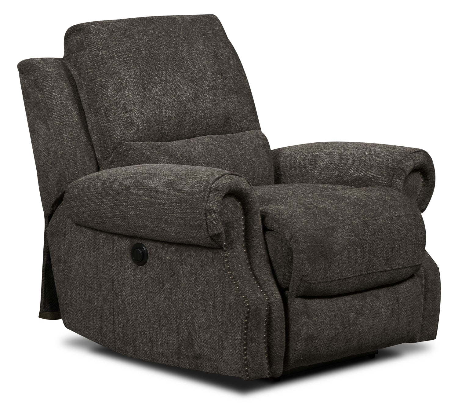 Living Room Furniture - Magnum Chenille Power Reclining Chair – Charcoal