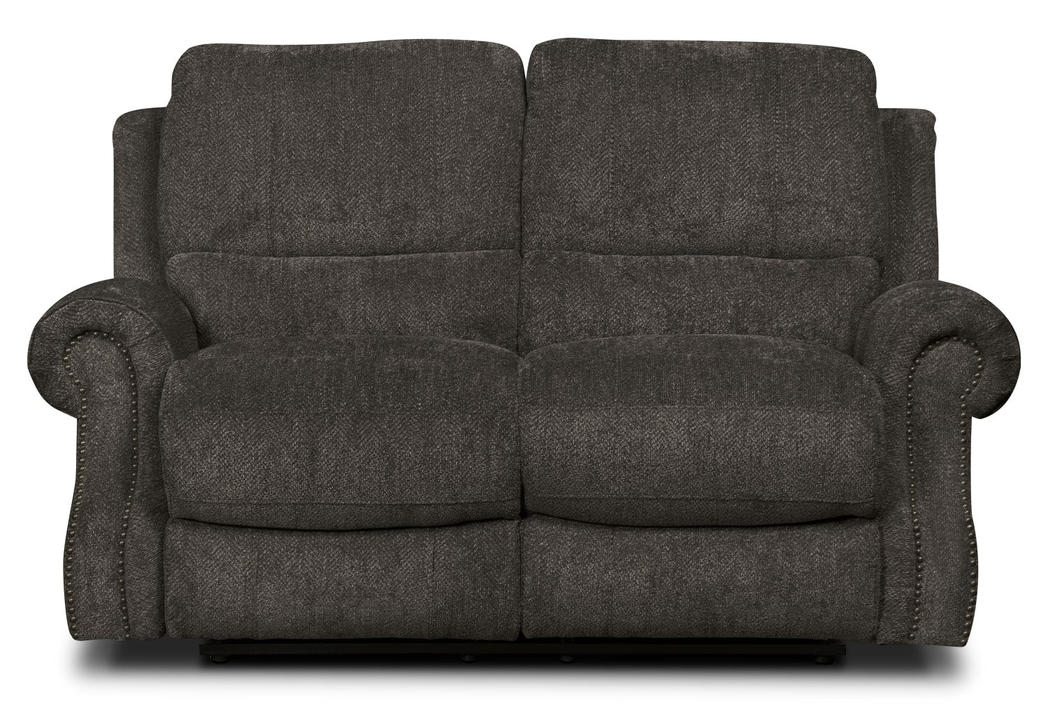 Living Room Furniture - Magnum Chenille Power Reclining Loveseat – Charcoal