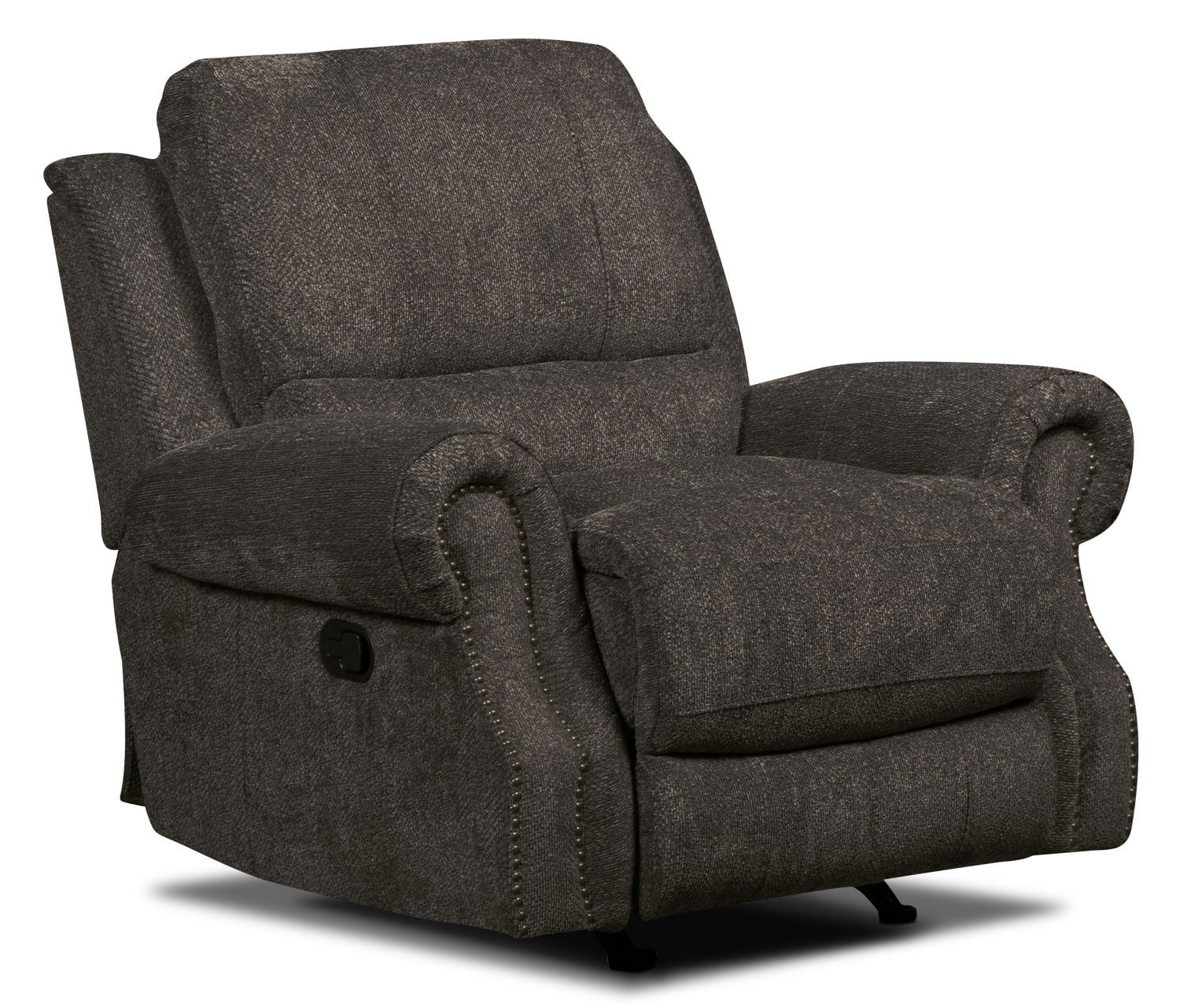 Living Room Furniture - Magnum Chenille Reclining Chair – Charcoal