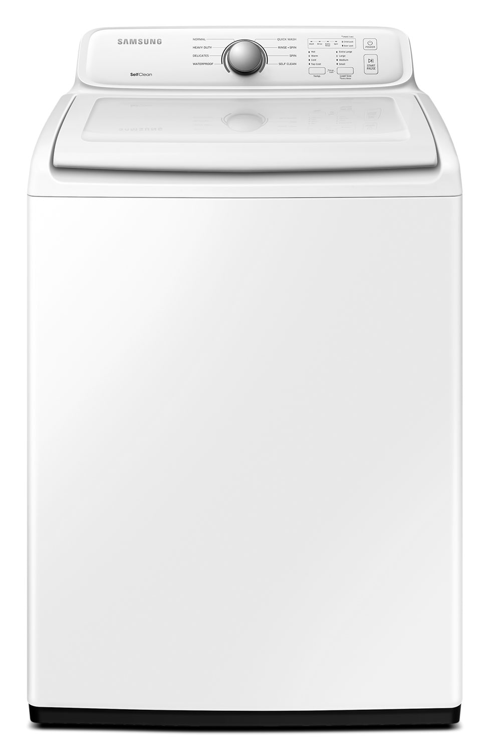 Washers and Dryers - Samsung White Top-Load Washer (4.8 Cu. Ft. IEC) - WA40J3000AW/A2