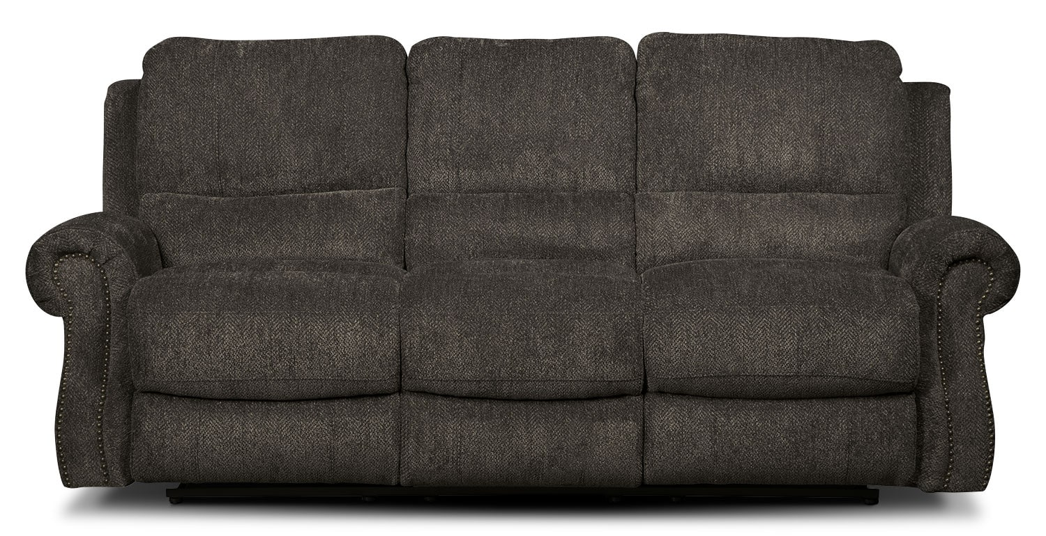 Living Room Furniture - Magnum Chenille Reclining Sofa – Charcoal