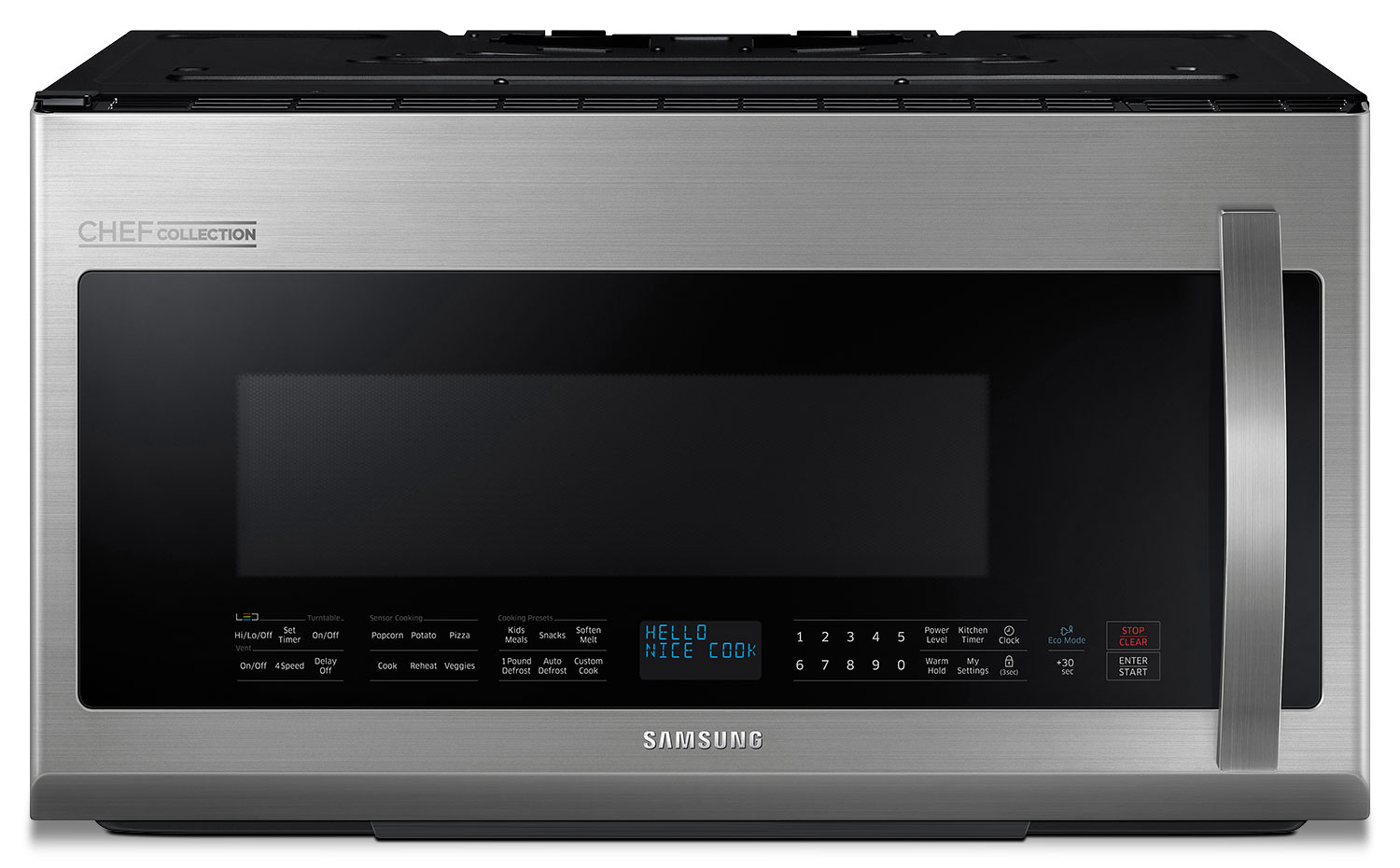 Samsung 2.1 Cu. Ft. Chef Collection Over-the-Range Microwave – Stainless Steel