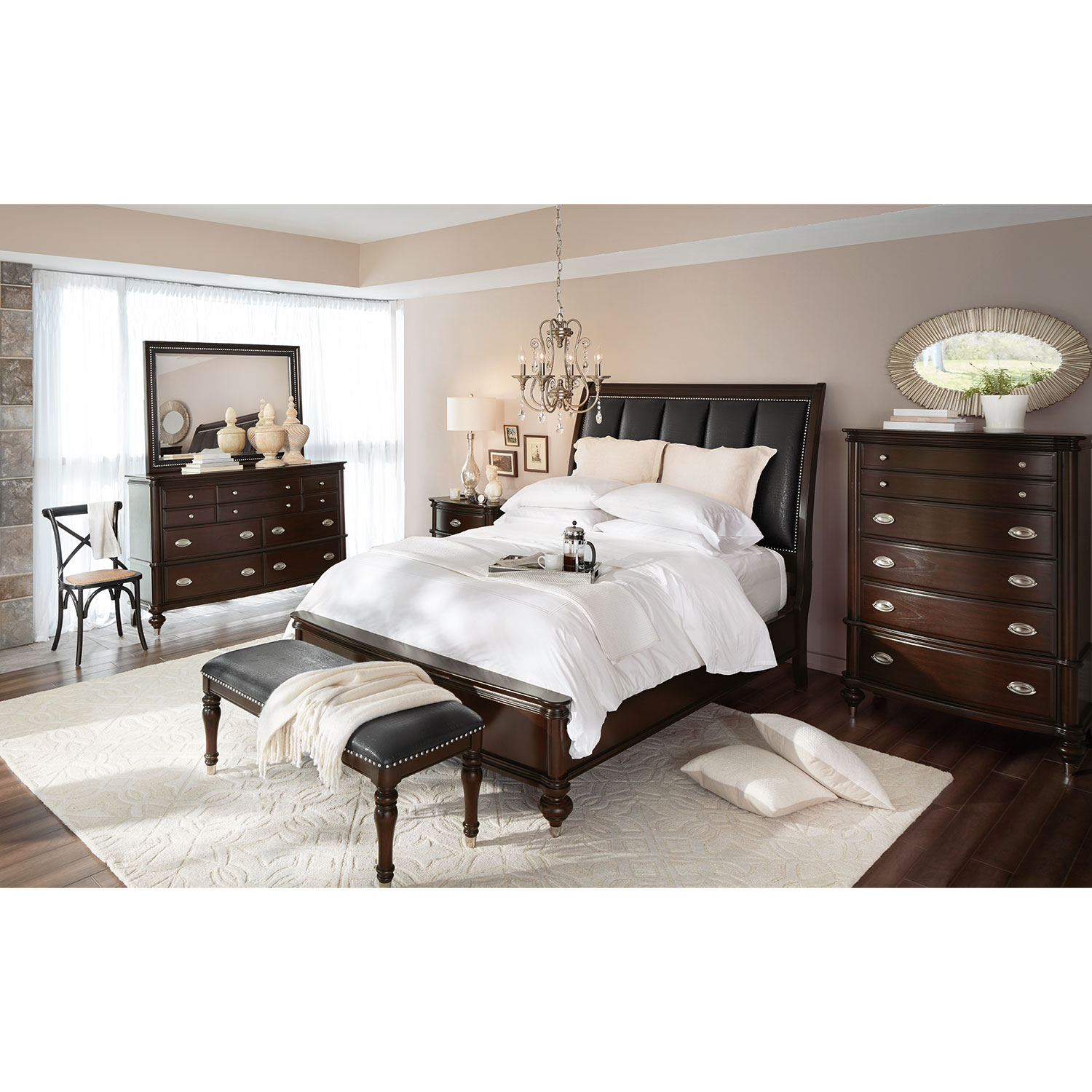 Esquire chest merlot value city furniture - Value city furniture bedroom sets ...