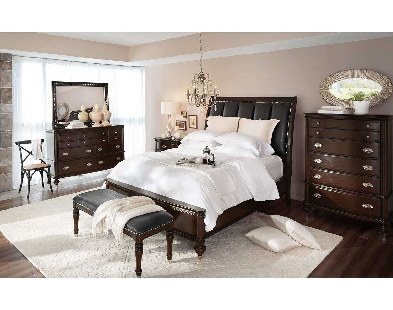 The Esquire Collection Merlot American Signature Furniture
