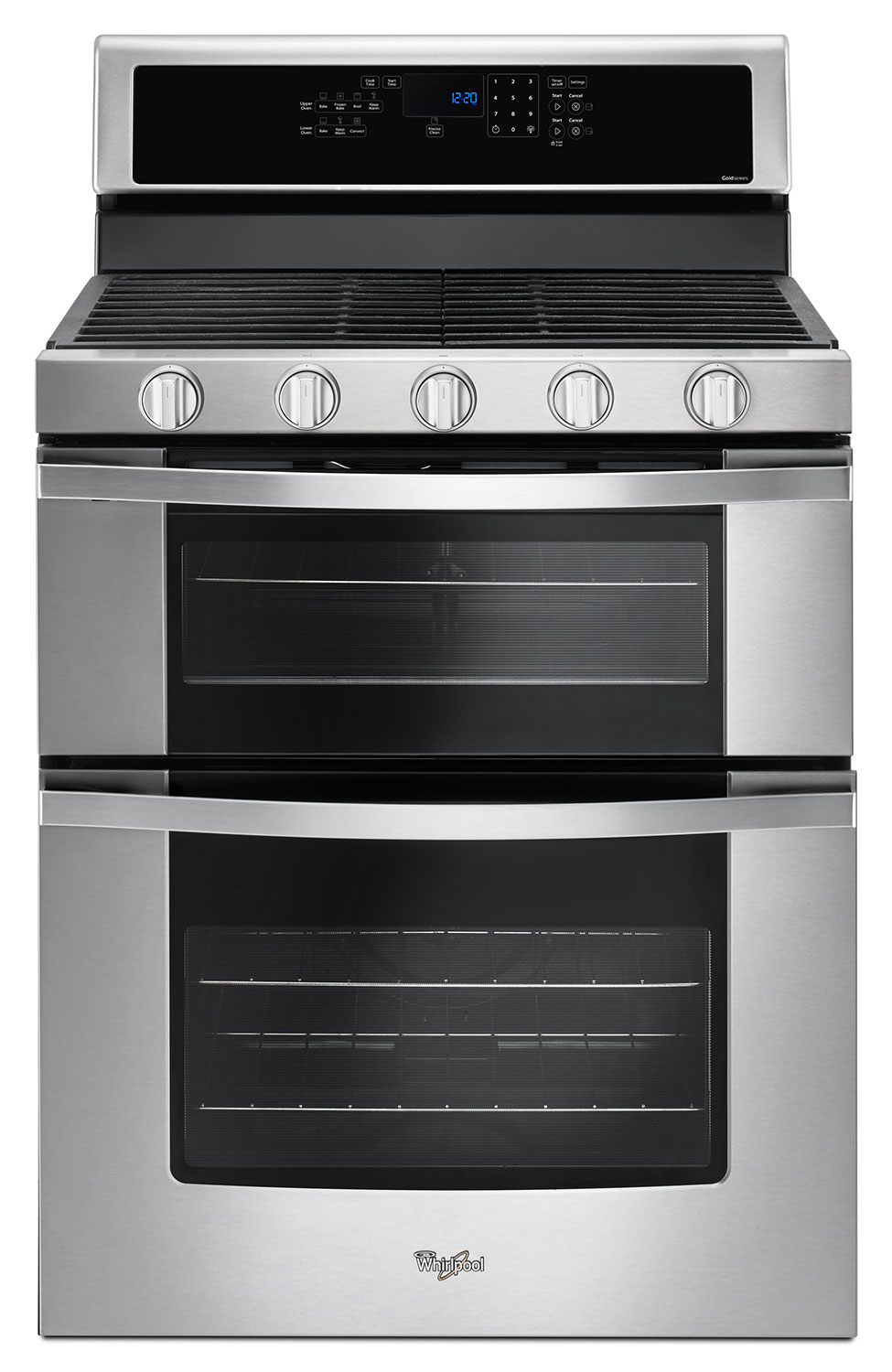 Cooking Products - Whirlpool Stainless Steel Freestanding Double Gas Range (6.0 Cu. Ft.) - WGG745S0FS