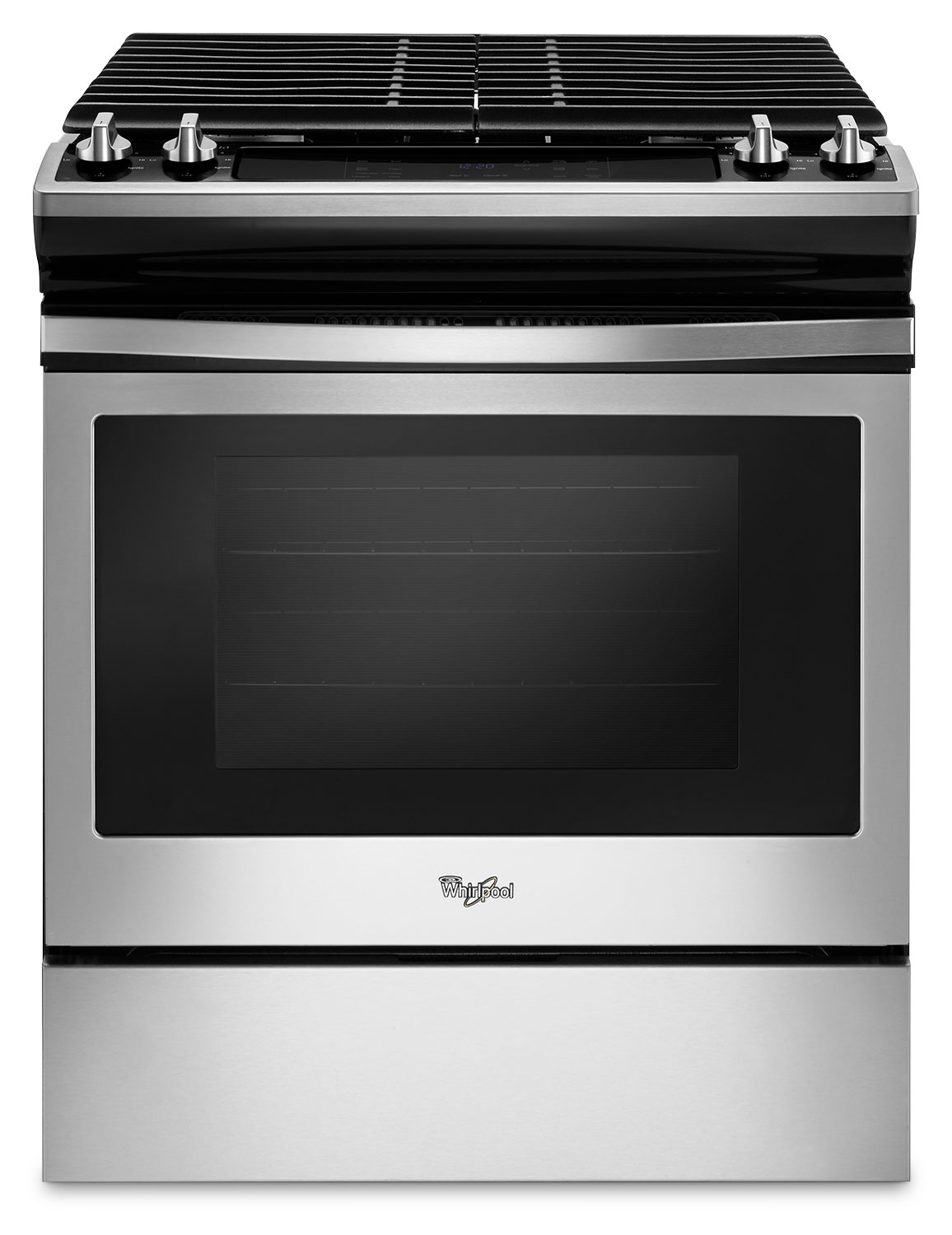 Whirlpool Stainless Steel Slide In Gas Range 48 Cu Ft