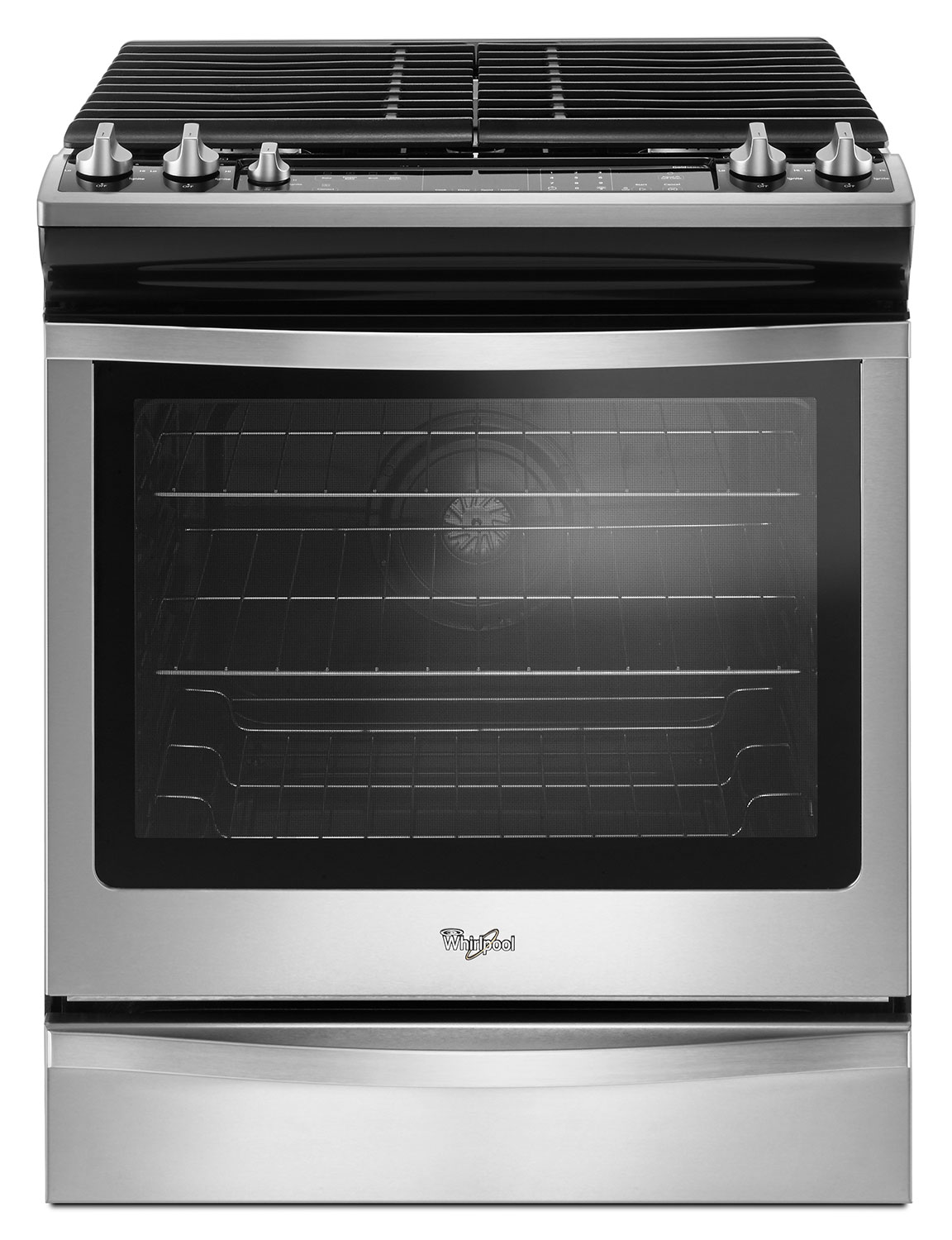 Cooking Products - Whirlpool Stainless Steel Slide-In Gas Range (5.8 Cu. Ft.) - WEG745H0FS