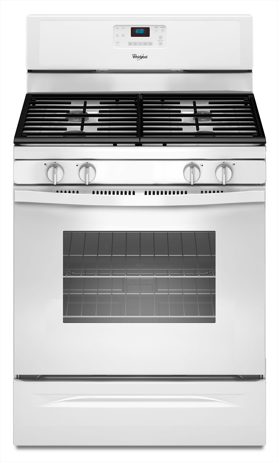 Cooking Products - Whirlpool White Freestanding Gas Range (5.0 Cu. Ft.) - WFG515S0EW
