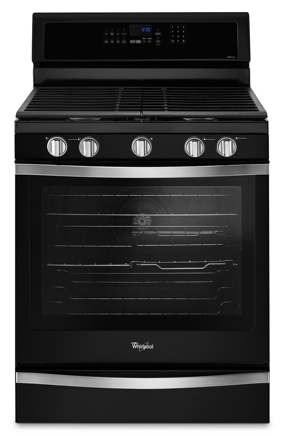 Cooking Products - Whirlpool Black Freestanding Gas Range (5.8 Cu. Ft.) - WFG745H0FE