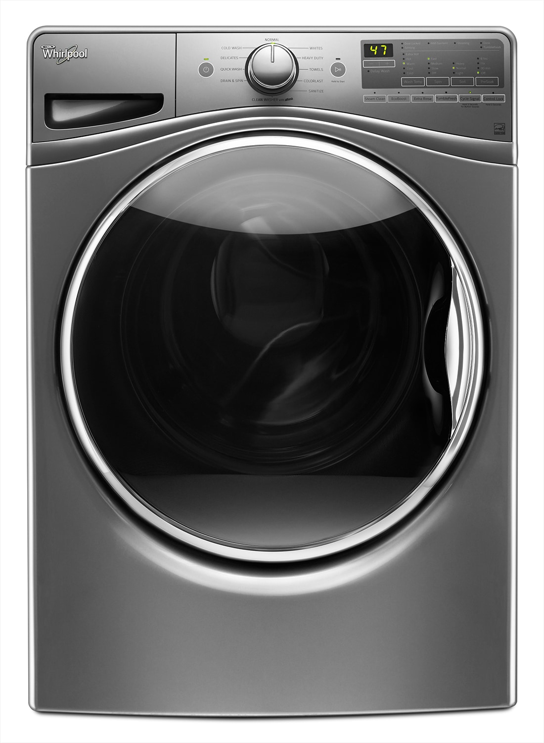 Washers and Dryers - Whirlpool Chrome Shadow Front-Load Washer (5.2 Cu. Ft. IEC) - WFW85HEFC