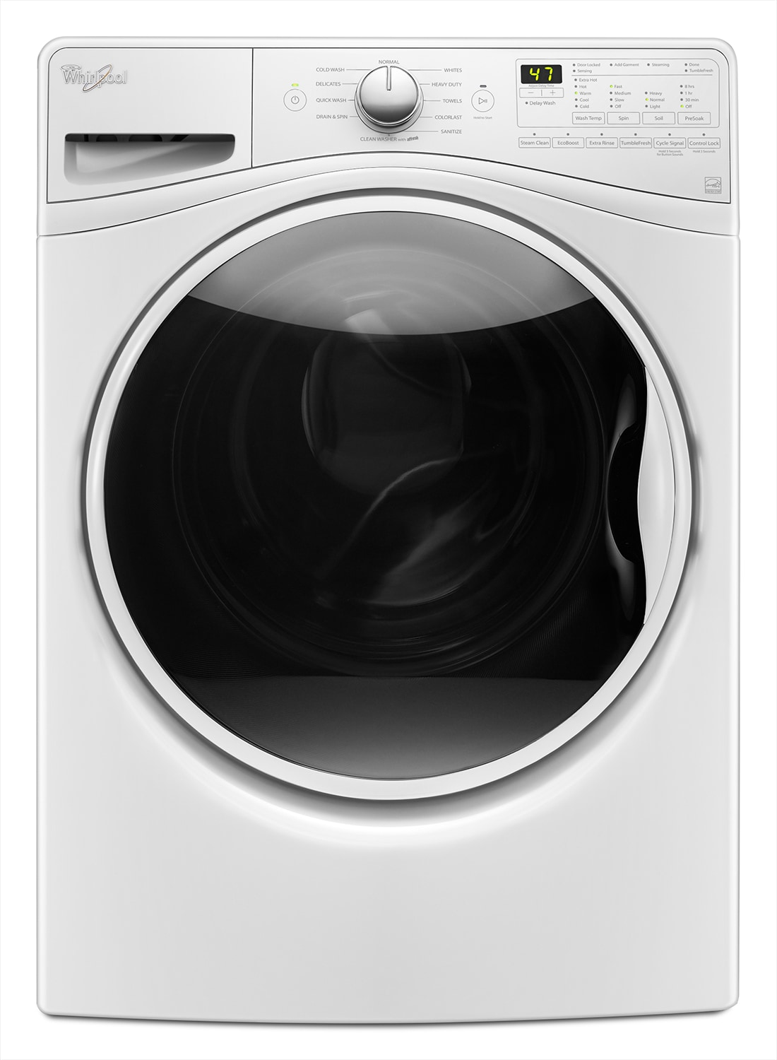 Whirlpool White Front-Load Washer (5.2 Cu. Ft. IEC) - WFW85HEFW